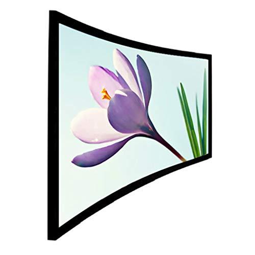 WDBBY 4k 16: 9 White Woven Transparente Transparente Transparente HD 3D Curved Frame Frame Pantalla de proyector para la Pantalla de proyección de Cine en casa (Size : 106 Inch)