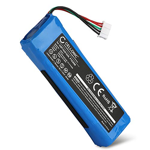 CELLONIC® Qualitäts Akku kompatibel mit JBL Charge 2, Charge 2 Plus/Charge 2+, Charge 3 (2015), P763098,GSP1029102R 6000mAh Ersatzakku Batterie