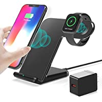 Huoto 2 in 1 Wireless Charging Dock with iWatch Stand