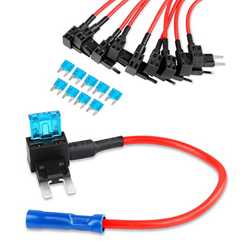 Price comparison product image Nilight 12V Car Add-A-Circuit Fuse Tap Adapter Mini Atm Apm Blade Fuse Holder-10 Pack