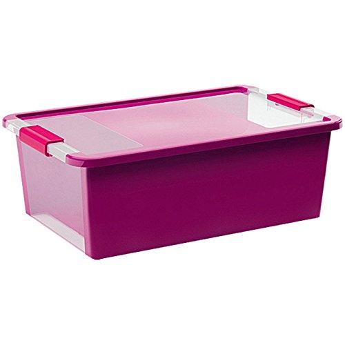KIS Aufbewahrungsbox Bi Box 26 Liter in violett-transparent, Plastik, 55x35x19 cm