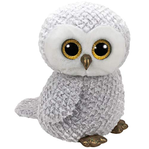 TY Owlette 36840 Eule mit Glitzeraugen, Grau, 0