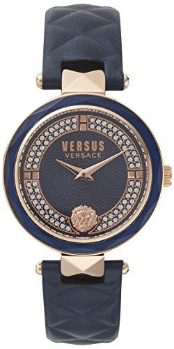 Versus by Versace Damen Analog Quarz Uhr mit Leder Armband VSPCD2817