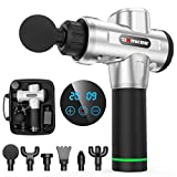 Massage Gun Professional Deep Tissue Massager Handheld Percussion Massage for Full Body Muscle Recovery and Pain Relief Device Electric Massagers for Neck and Back DamKee DK-01