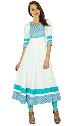 Phagun Bollywood Kurta indische Designer Frauen Ethnische Kurti Baumwolle Tunika-Kleid