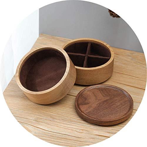 DLYDSSZZ Schmuck-Box Zwei-Schicht mit hohen Kapazität Holz beweglichen Ring Box-Ring mit Schmuck Futter als Geschenk Uhr-Box, Dekoration Display Box (Color : B, Size : 10 * 9 cm)