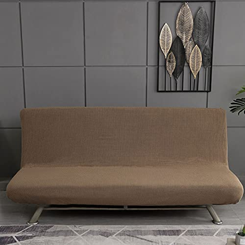HJFGIRL Sofa Cover Without Armrests, Modern Print Sofa Cover 1/2/3 Seater Without Armrest Stretch Couch Cover Armless Sofa Bed Cover for Folding Sofa Bed Without Armrests,C-100-150CM