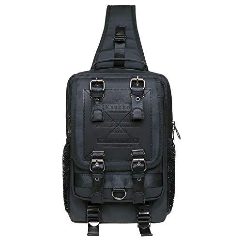 KAUKKO Canvas Messenger Bag Cross Body Shoulder Sling Backpack Travel...