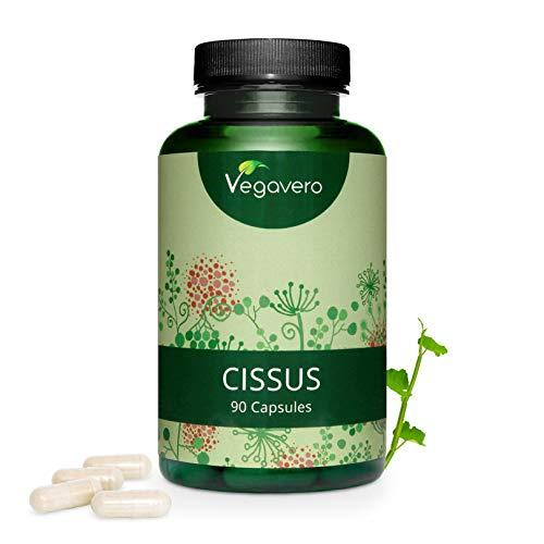 Cissus Quadrangularis Vegavero | EXTRAIT Hautement Concentré | 6500 mg | Avec 16,25 mg de Cétostérone | Testé en Laboratoire | 90 Gélules | Vegan