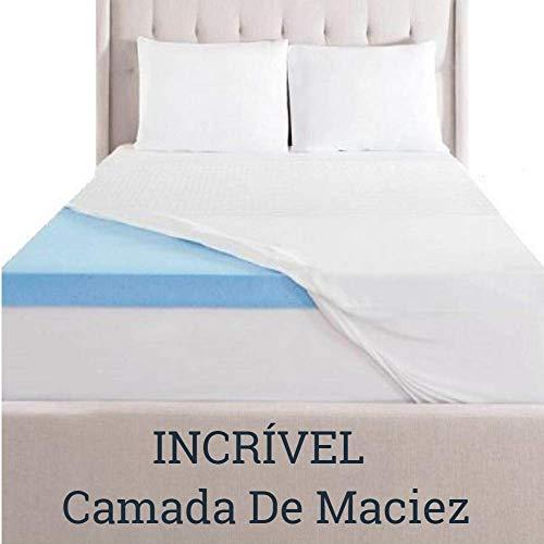 Pillow Top Viscoelástico Nasa Gel Infusion 8cm de espessura (Casal 1,38 X 1,88 X 0,08 m)