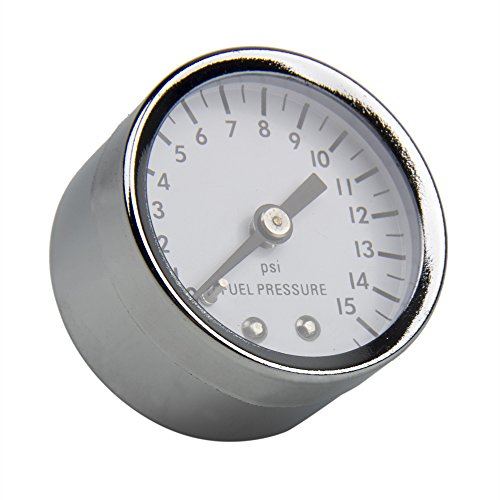 Save %60 Now! CarBole Universal Fuel Pressure Gauge 0-15 PSI