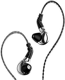 $38 » HiFiHear BLON BL-03 in Ear Earphone,10mm Carbon Diaphragm Dynamic Drive Bass HiFi DJ in Ear Monitor, Diamond Mirror Process in Ear Headphone with 2pins Detachable Cable Wired Earphone (Slive No Mic)