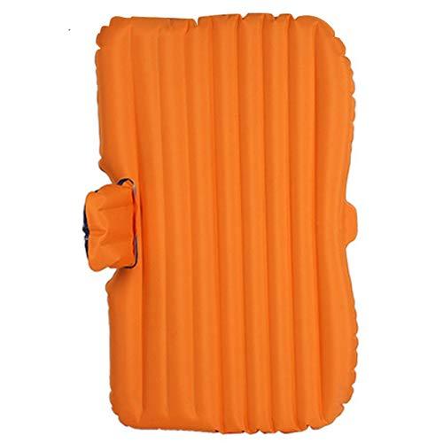 Guoziya Car Lit Gonflable Pliant sans Matelas d'air De Camping Voyage Pompe en Plein Air Airbed SUV Coussin De Couchage Universel (Couleur : Orange)