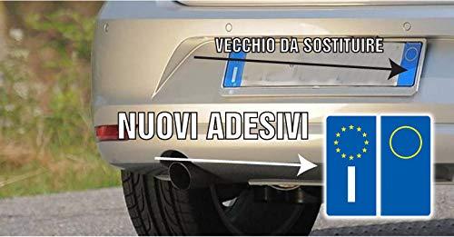 KIT 4 PEZZI ADESIVI ADESIVO PER TARGA EUROPA PER AUTO STICKERS BMW AUDI FIAT VOLKSWAGEN ecc. | adesivi adesivo per targa europea kit 4 pezzi per auto moto macchina automobile - 2AINTIMO®