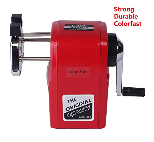 CARL Angel-5 Manual Pencil Sharpener Heavy Duty Quiet for School Home and Office,Red Photo #6