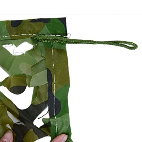 SWEAR Red de camuflaje del ejército alemán Woodland Camo Neting Tarkouf Tetting Toppe para caza, fiesta, decoración, camping, sombra, redes militares duraderas (tamaño: 7 × 20 m)
