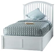 Madrid 3ft Wooden Ottoman Lift Up Storage Bed (White)