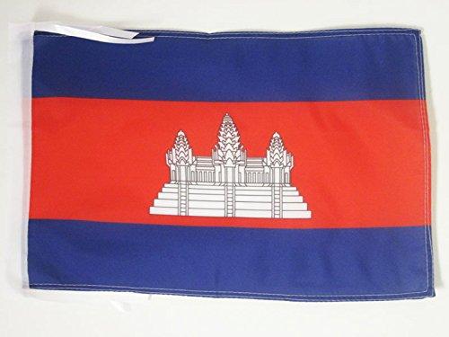 AZ FLAG Flagge KAMBODSCHA 45x30cm mit Kordel - KAMBODSCHANISCHE Fahne 30 x 45 cm - flaggen Top Qualität