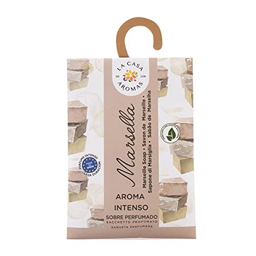 Set de 12 Sobres Perfumados, Bolsitas Aromáticas Olor Jabón de Marsella, Saquitos para el Armario, Cajón, Ropa de Bebé, Zapatero, Maleta (Jabon de Marsella)