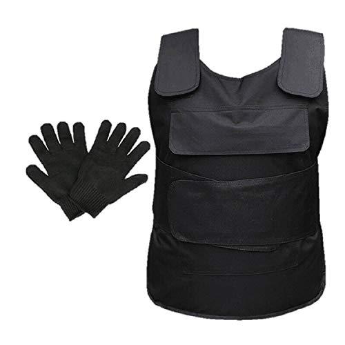[ディープアイズ] 防刃ベスト 防刃チョッキ&防刃手袋 2点セット 防犯 護身用 収納袋付 DE065