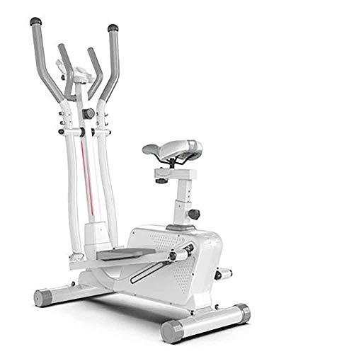 LHFD Bicicleta estática, Entrenador elíptico Tres en uno, Bicicleta giratoria de Control magnético silencioso, Equipo de Fitness para Interiores