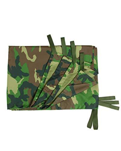 Mil-Tec Mehrzweckplane mit Camouflage-Muster, - woodland, Einheitsgröße
