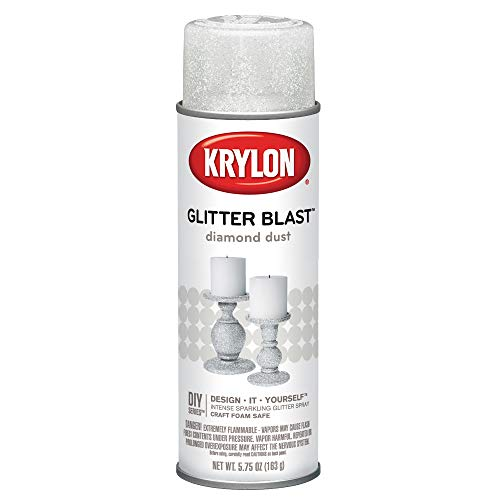 Krylon K03804A00 Glitter Blast Glitter Spray Paint for Craft Projects, Diamond Dust, 5.75 oz