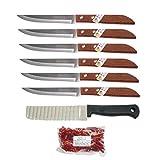 Kiwi Thai #501 - Juego de 6 cuchillos de cocina para frutas y verduras (30 g), color marrón