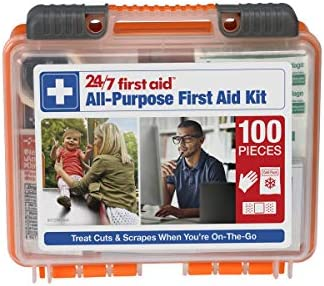 24 7 First Aid 100 Piece All Purpose First Aid Kit product image