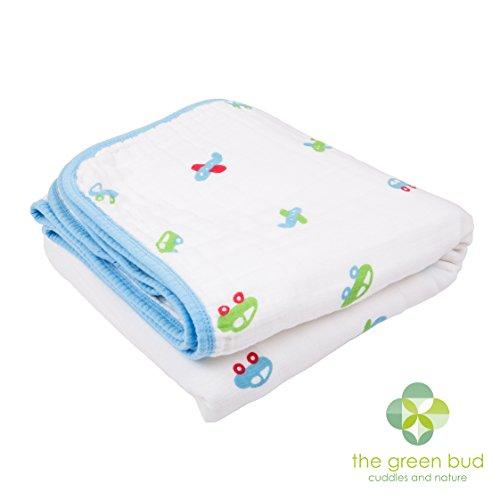 Couverture pour bébé – Dimensions : 120 cm x 120 cm. seulement 100% de haute qualité, respirant pour Nos Rêves les couvertures en mousseline de coton. 4 couches en mousseline/Choix Idéal pour de nombreuses utilisations.