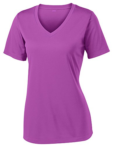 Opna Women's Short Sleeve Moisture Wicking Athletic Shirt, XX-Large, Pink Orchid