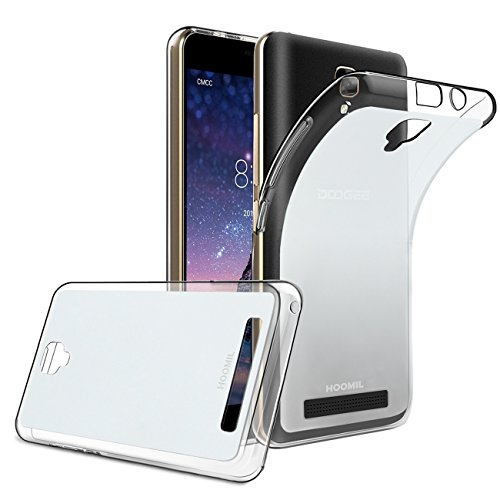 HOOMIL Doogee X10 Hülle, Silikon Transparent Handyhülle für Doogee X10 Schutzhülle Soft TPU Bumper Case Cover (Durchsichtig) - H3216