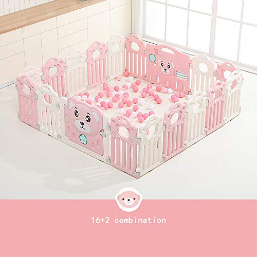 Review ZZYYLL Baby Playpen Kids Activity Outdoor Portable Fence Centre Safety Play Yard Home Indoor Outdoor New Pen,14+2