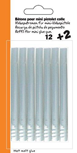 Cléopâtre – PO14PPRCT – Klebepatronen für Mini-Heißklebepistole, Universal, 14 Stk, ca. Ø 7 mm
