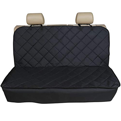 Mini Countryman (2017 ON) - Heavy Duty Black Strong Quilted Pet Dog Cat Hammock Rear Seat Cover Protector