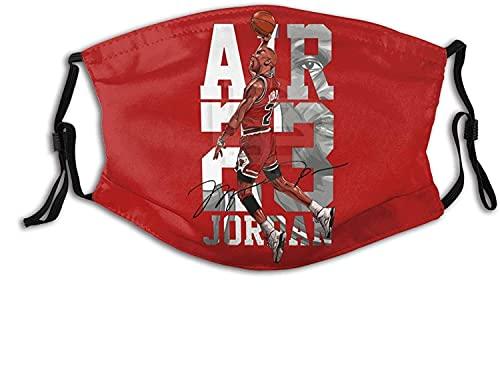 Bufanda unisex James I Promise para la cara del polvo, pasamontañas, bandana para el cuello, lavable con filtro reemplazable, protector de carbón activado, Air 23 Jordan-Talla única