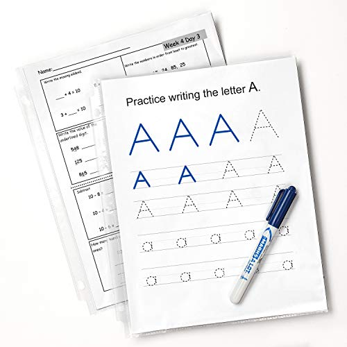 Avery Clear Reusable Sheet Protectors, Easily Write and Erase, 100 Economy Page Protectors, Use like a whiteboard (75091)