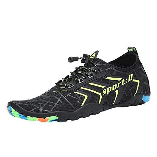 Whyeasy Bluestercool Chaussures d'eau Unisexes à Couple Séchage Rapide Printemps Été Piscine Plage Nager Plongée Shoes Chaussures Aquatiques(Vert,43)