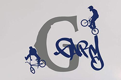 Axlgw fiets extreme fiets muur Sticker jongen kamer kinderkamer kinderkamer fiets mountainbike BMX muursticker kinderkamer Vinyl decoratie grootte 45 cm widex38 cm hoog