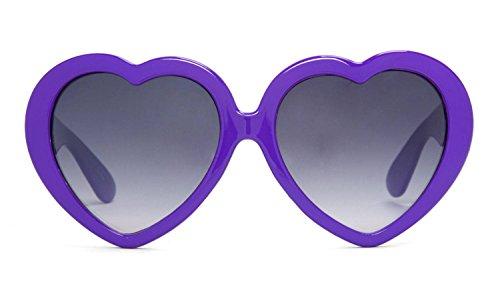 Gravity Shades Heart Shaped Lolita Sunglasses, Purple