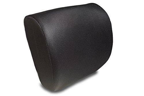 Orthopedisch Memory Foam Lumbar Support Kussen – Back Pain Relief! Rugleuning voor bureaustoel en autostoel| Verbeter de houding natuurlijk| 2 verstelbare riemen voor zitcomfort – inclusief aangepaste draagtas! Zwart