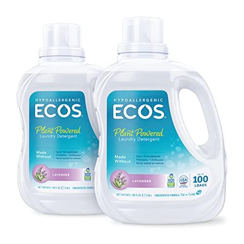 ECOS® 2x Hypoallergenic Liquid Laundry Detergent, Non-Toxic,...