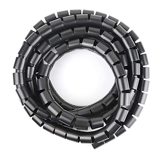shjjyp Espiral Cubre Cables Envoltorio Organizador De Cables Tubo De EncuadernacióN En...