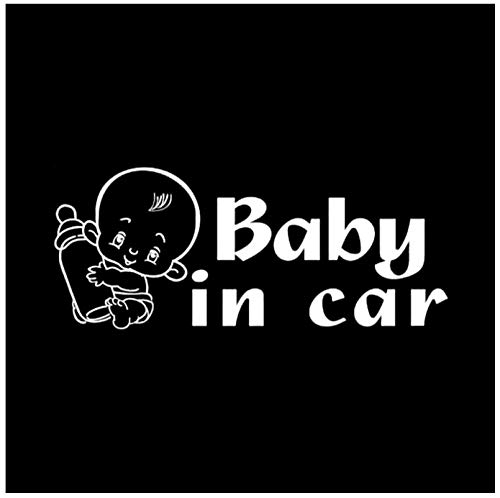 Kinderwagen autosticker vinyl pvc DIY voor ramen, bumper, laptop, koffer, wand, skateboard sticker sticker decoratie 7,5 x 18 cm (5 stuks)