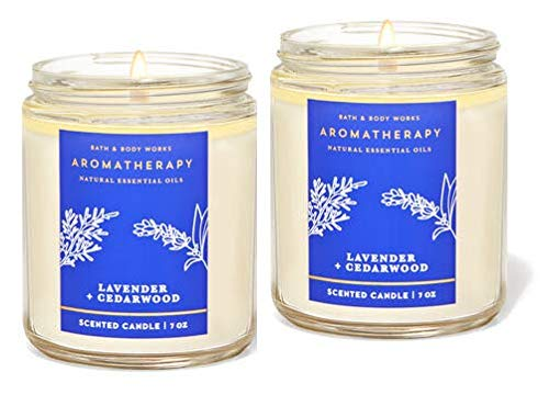 Bath and Body Works Lavender Cedarwood (7oz/ 198 g) 2-Piece Pack Single Wick Candle