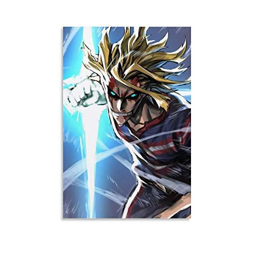 DRAGON VINES Póster enmarcado de Anime My Hero Academia All Might Battle (60 x 90 cm)