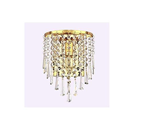 Sooiy E14 Led Wandleuchten Wandleuchte Kristall-Lüster Eine Lampe Side Schlafzimmer Badezimmer Wandleuchten verzieren Gold-