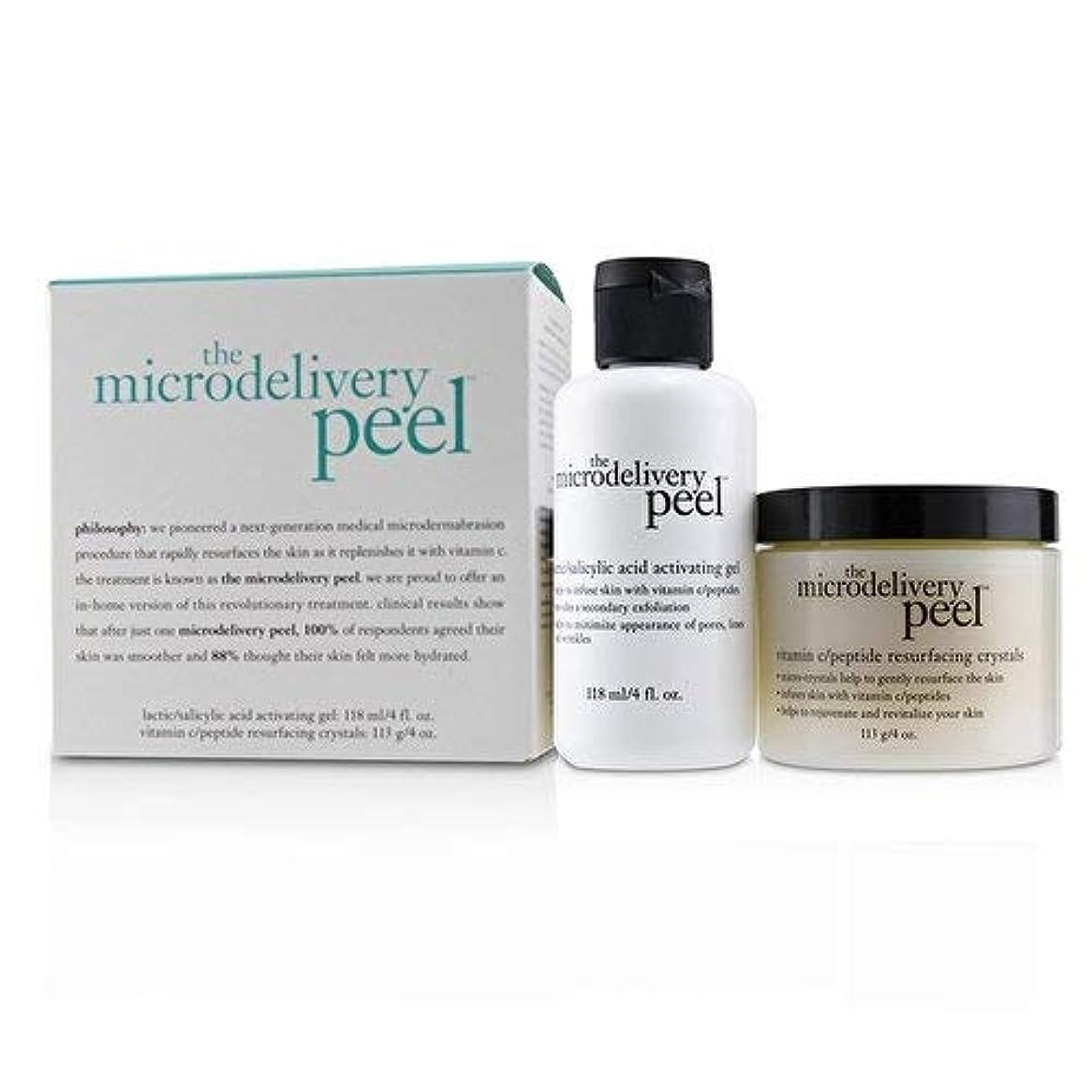 ひねりトランスペアレントアルミニウムフィロソフィー The Microdelivery Peel: Lactic/Salicylic Acid Activating Gel 118ml + Vitamin C/Peptide Resurfacing Crystals 2pcs並行輸入品