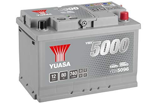 YBX5096 Yuasa Silver High Performance Autobatterie 12V 80Ah