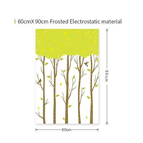 YSHUO raamsticker groen mat glas film polyethyleen gebrandschilderd glas lijm film mat huis Dicoration bladeren